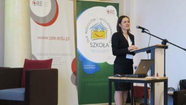 Wystąpienie Katarzyny Komoszewskiej ze Stowarzyszenia Szkoła dla Rodziców i Wychowawców