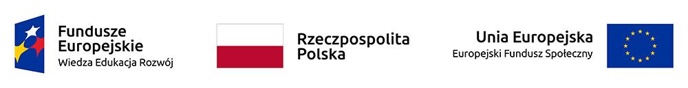 Logotypy: Fundusze Europejskie, RP, UE