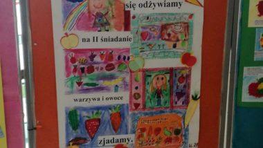 Plakat ozdrowym drugim śniadaniu - Szkoła Podstawowa Nr103 wWarszawie