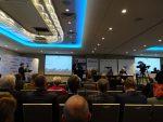 """wystąpienie Marcina Opalińskiego, Prezesa LS Airport Services i LS Technics otwierające konferencję """"Lotnicze szkolnictwo techniczne a rozwój i potrzeby branży lotniczej w Polsce"""""""