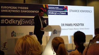 Otwierający konferencję Paweł Poszytek, Dyrektor Generalny Fundacji Rozwoju Systemu Edukacji