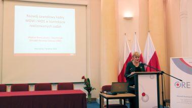 Otwarcie konferencji przez Dyrektor ORE Jadwigę Mariolę Szczypiń