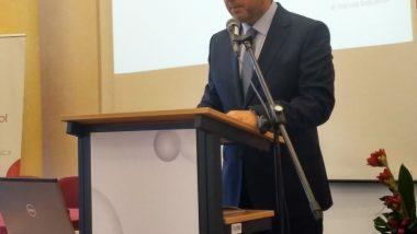 dr Mariusz Dobijański, Dyrektor MOW w Jaworku podczas wykładu