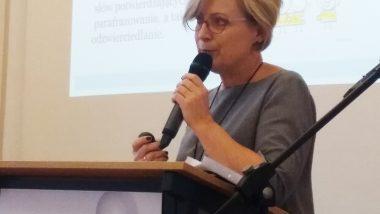 Ewa Rutkowska, Dyrektor MOS w Żychlinie, podczas wykładu