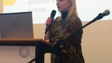 Małgorzata Janda, Dyrektor MOW w Czaplinku, podczas wystąpienia