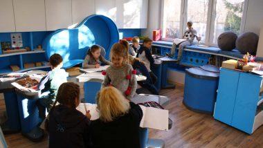 Uczniowie wybrali pracę wgrupie, parach lub indywidualnie