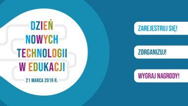 Dzień Nowych Technologii w Edukacji - plakat informacyjny