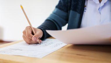 Uczeń piszący egzamin