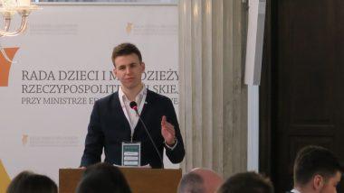 Przewodniczący Rady Dzieci i Młodzieży przy MEN Piotr Wasilewski