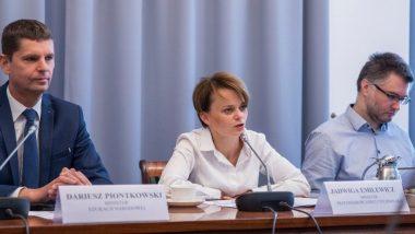 MInister edukacji Dariusz Piontkowski, Minister Przedsiębiorczości i Technologii Jadwiga Emilewicz