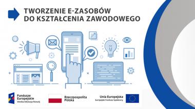 Baner informacyjny projektu e-zasoby do kształcenia zawodowego