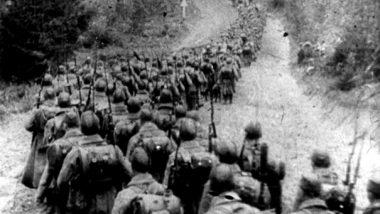 Kolumny piechoty sowieckiej wkraczające do Polski 17.09.1939 l Fot. Wikipedia