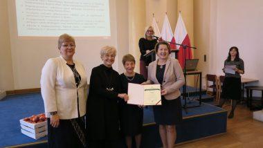 wręczenie Krajowego Certyfikatu laureatom