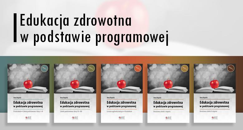 Edukacja zdrowotna w podstawie programowej - banner z okładkami zeszytów