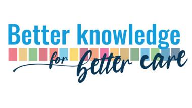 baner z napisem: Better knowledge for better care. tłumaczenie: Większa wiedza, lepsza opieka