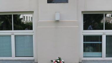 Budynek ORE – tablica upamiętniająca Powstańców