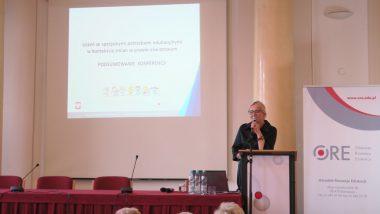 Zamknięcie konferencji przez wicedyrektor ORE Marzennę Habib