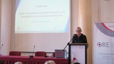 Otwarcie konferencji przez wicedyrektor ORE Marzennę Habib