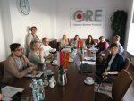 Uczestnicy wizyty studyjnej z Macedonii i pracownicy ORE